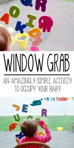 Window Grabbing of foam letters for baby