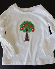 Apple tree applique shirt (+ tutorial on my blog)
