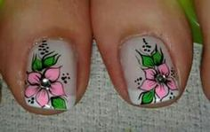 Uñas pies Cute Pedicure Designs, Toenail Art Designs, Toe Nail Art, Toe Nails, Acrylic Nails, Cute Pedicures, New Nail Art Design, Flower Nails, Manicure And Pedicure