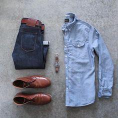 Wednesday gear with some new @jachsny! ⌚️ Shirt: @jachsny Denim: @katobrand Boots: @orzhaus Belt: @americannativegoods