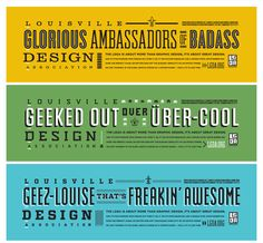 Jeremy Reiss - Louisville Graphic Design Association Banners