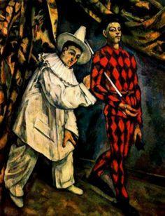 Paul Cézanne - Pierrot and Harlequin (Mardis Gras), 1888