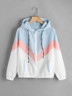 FeiTong Women Windbreaker Jacket Female Multicolor Patchwork Hooded Jacket Basic Jackets Color Block Coats For Women Sweatshirt Outfit, Hoodie Jacket, Windbreaker Jacket, Jacket Men, Womens Windbreaker, Outfit Jeans, Hoodie Sweatshirts, Teen Fashion Outfits, Sport Outfits