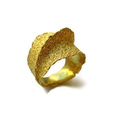 Cecilia Ribeiro - IGNIA LINE RING - Gold Plated Sterling Silver.