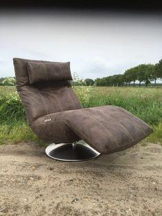 Niek relax chair en relaxfauteuil elektrisch verstelbaar met accu maar dan in vergrijsd blauw of grijs
