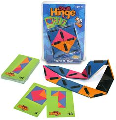 Ivan's Hinge  - $13.00  Fold, loop, bend, twist, turn- to find a solution! Patterned challenge cards invite curiosity, logic & determination Brainteaser & mind-builder - refines visual spatial skills Created by famed puzzle creator Ivan Moscovich Ideal for brain stimulation and relaxation Appeals to a wide range of ages