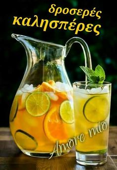 Lemons and iced tea are a great match. In this citrus iced tea recipe, the added slices of lime and oranges create a delicious well defined fruity Cold Drinks, Fun Drinks, Yummy Drinks, Beverages, Colorful Drinks, Iced Tea Recipes, Cocktail Recipes, Fruit Tea, Liqueur