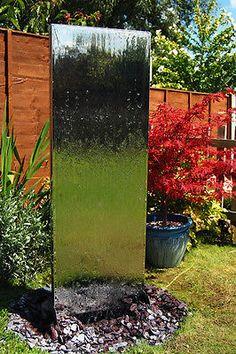 Wasserwand aus Edelstahl Brunnen Wasser Spiel Zier Spring Garten Dekoration