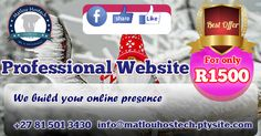 Amazing Deal!!! Professional Website with email accounts and free 1 month digital marketing.