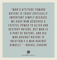 Rachel Carson was one of the original environmental supporters and wrote one of the first books. Words Quotes, Wise Words, Me Quotes, Sayings, Quote Meme, Famous Quotes, Deep Ecology, Great Quotes, Inspirational Quotes