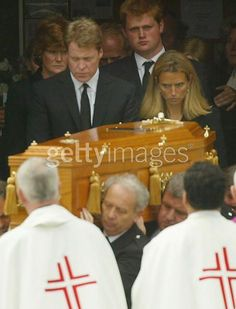June 10, 2004 funeral of Frances Shand Kydd at the Catholic Cathedral in Oban (she converted in 94). She spent her last years in solitude at her Scotland home on Seil. Sadly, Peter Shand-Kydd had left her many years earlier in 1988. She died alone in a Scottish hospital following a long illness that included Parkinson's and brain cancer. Princes William and Harry attended with William giving a reading.  The Prince of Wales did not attend because he had to attend President Reagan's state…