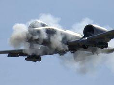 A-10 Hawgsmoke 2006, firing up the gatling canon