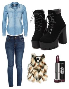 """Untitled #5"" by andraconstantinescu on Polyvore featuring GUESS by Marciano and Vero Moda"
