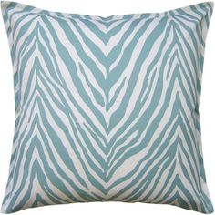 """This designer pillow is designed to be used indoors or outdoors. The pillow comes in the Aquamarine color as shown. The pillow measures 22"""" X 22"""". This pillow is handmade in the USA by highly skill artisans. The pillow comes with a feather-down fill and a zipper closure for easy cleaning. Please note this item is custom made to order and may not be returned."""