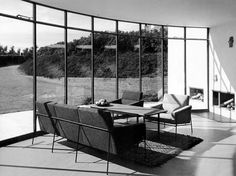 Interior projected by Arne Jacobsen, Odden.
