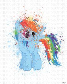 Rainbow Dash Grunge by SpiderStopShop on Etsy, $15.00
