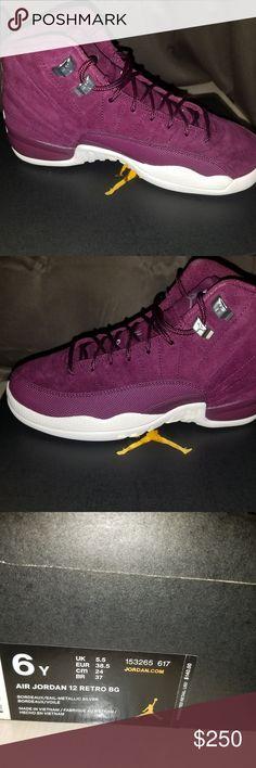 8177f05b410c56 Air Jordan Reto 12 Burgundy Size 6 Burgundy Air Jordan Retro 12 in Big Kids  Boys Size 6