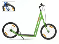 Sidewalker Willy Adult Scooter, Blue/Green/Red/Yellow/Black