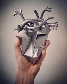 My metal geometric heart (in progress)...new project coming soon.....#trashart #wireart #wire #metalsheet #humanheart #teodosio #greece #greekart #teodosiosectioaurea  #trash #metalart #ironart #steel #metal #iron