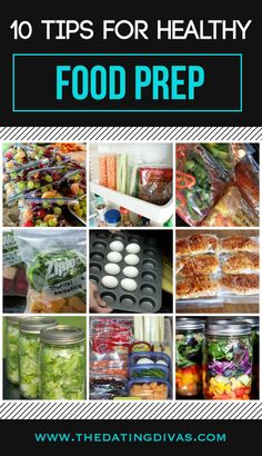 This is a must-pin!  Lots of great tips and ideas for healthy meal planning and food prep.  Take one day a week and you're set with healthy food for a week! www.TheDatingDivas.com