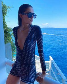 Sanne De Roo stars Dior editorial for Grazia in Capri
