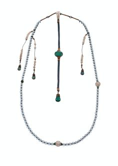 Ceremonial Court Chain | Corning Museum of #Glass #cmogbeads