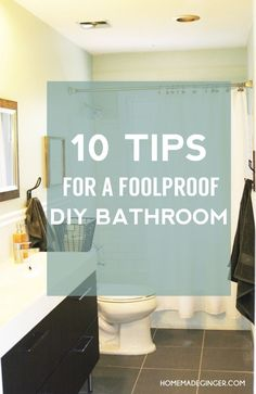 10 of the BEST TIPS for a foolproof DIY bathroom. Anyone can remodel a bathroom themselves and save a TON of of the BEST TIPS for a foolproof DIY bathroom. Anyone can remodel a bathroom themselves and save a TON of money! Diy Bathroom Remodel, Bathroom Renovations, Home Renovation, Kitchen Remodel, Home Improvement Loans, Home Improvement Projects, Bathroom Sets, Small Bathroom, Bathrooms