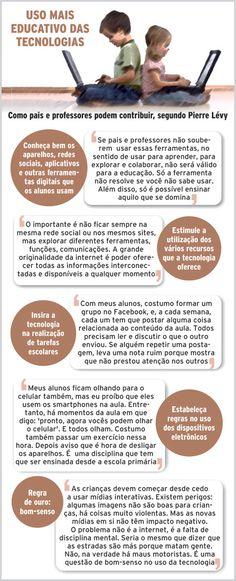 e72501f539 O filósofo Pierre Lévy dá dicas sobre como um educador pode utilizar os  recursos digitais em favor da aprendizagem.