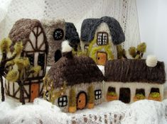 Bella McBride: Medieval Village Needle Felted Set by McBride House