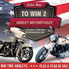 @HeroGiveaways Enter to Win Two Harley-Davidson motorcycles and Support Wounded Veterans by entering!  Click link in @HeroGiveaways bio  @HeroGiveaways @HeroGiveaways by ratrods