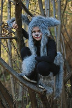 DIY Halloween kids costumes little red riding hood and wolf - Fannice Kids Fashion