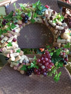 Handmade Wine Cork Wreath Wine and Faux by AshpasBlossomShoppe