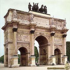 Percier y Fontaine. Arco de Triunfo del Carrusel (París)
