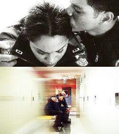 Monica Raymund (Gabriela Dawson) & Charlie Barnett (Peter Mills) - Chicago Fire