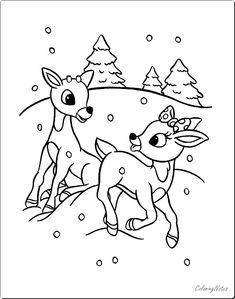 Printable Rudolph Coloring Pages For Kids - Printable Coloring Pages To Print Rudolph Coloring Pages, Printable Christmas Coloring Pages, Coloring Pages To Print, Free Printable Coloring Pages, Coloring Book Pages, Coloring Pages For Kids, Adult Coloring, Coloring Sheets, Christmas Printables