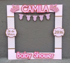 Baby Shower Ides Decorations Winter New Ideas Marcos Para Baby Shower, Fotos Baby Shower, Moldes Para Baby Shower, Baby Shower Photo Frame, Baby Shower Pictures, Girl Baby Shower Decorations, Baby Shower Themes, Shower Ideas, Foto Baby