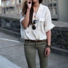 Collard shirt outfit
