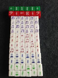 This is a set designed for fun rhythm games! It includes the following dice: 6 Time Signature dice 6 Clefs dice 24 Advanced Rhythm Dice (purple dice in picture) 24 Basic Rhythm Dice (brown dice) 12 Ba