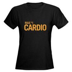 Zombieland Survival Rule 1: CARDIO Womens Dark T Funny Womens Dark T-Shirt by CafePress