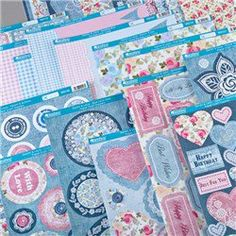Kanban Denim and Lace Papercraft Card and Topper Collection