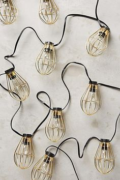 Caged Bulb String Lights