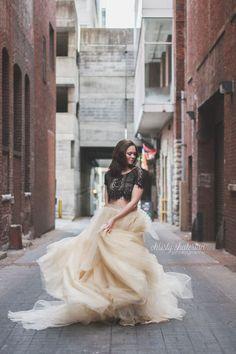 Tulle Skirt Twirling in Nashville, TN | Christy Shaterian Photography | Nashville Photographer | Portrait | Glamour | Senior | City Photoshoot