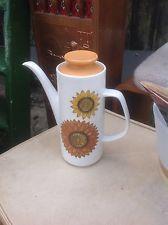 RETRO VINTAGE J & G MEAKIN STUDIO PALMA  Sunflower COFFEE POT