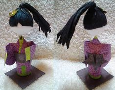 3D Origami Kid Prize - Girl with Ponytail --I think it's beautiful!