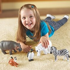As The Brand Teachers Trust our educational toys, games & learning aids inspire children to learn through play. Plastic Animals, Large Animals, Zoo Animals, Creative Play, Creative Thinking, Animal Facts, Imaginative Play, Childhood Education, Learning Resources
