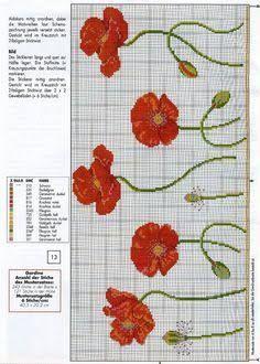 free cross stitch poppy flowers - Google Search