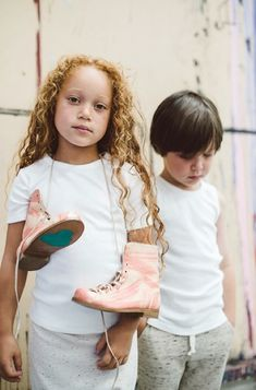 The Monkey boot in pink for girls from Chapter 2 handmade kids footwear for spring 2015