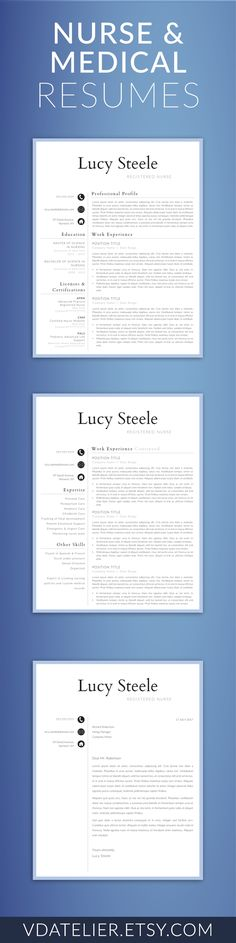 Doctor Resume Template for Word, Nurse Resume Template Nurse CV - resume for doctors