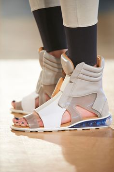 The future is shaping up, thanks to these athletic sandals that are ready for a sport on the moon at vplnyc VPL by Victoria Bartlett #nyfw #ss14