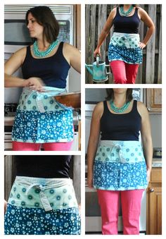 Boy, Oh Boy, Oh Boy Crafts: Free Half Apron Pattern and Tutorial.  These make great teacher gifts!